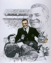 VINCE LOMBARDI    Vincent Thomas Lombardi. . .Began head coaching career at age 45. . .Transformed Green Bay into winner in two seasons . . .Acclaimed NFL Man of the Decade in the 1960s. . .Gave Packers 89-29-4 record, five NFL titles, first two Super Bowl crowns in nine years. . . Led 1969 Redskins to first winning record in 14 years. . .Noted taskmaster, never had a losing season. . .Born June 11, 1913, in Brooklyn, New York. . . Died September 3, 1970, at age of 57.
