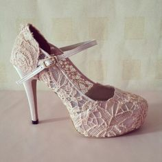 wedding shoes 2014 mary jane nude peace lace. . made in indonesia. .