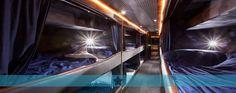 beds in double decker bus