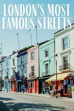 Discover London's most famous streets, like Brick Lane, Portobello Road, Abbey Road, Oxford Street, and Baker Street. | historic streets in London | london streets names |famous residential streets in london | streets to visit in london| famous streets in London | london england street names | london england streets | most popular street in london | famous london roads | famous roads in london