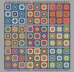 Modern Cross Stitch Pattern Granny Square by ImaginationAdmin