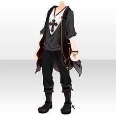 Anime Outfits, Boy Outfits, Fashion Outfits, Vetements Clothing, Concept Clothing, Anime Dress, Drawing Clothes, Character Outfits, Looks Cool