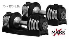Charmant XMark XM 3305 Adjustable Dumbbells   25lb Pair