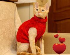Handmade Cat Small Dog Jumper Sweater Dress Wear by RamonaStore