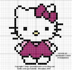 Bonjour, A la demande de Chantal, voici une petite grille d'Hello Kitty. Pour l'imprimer, cliquez sur l'image. JE vous remercie par avance pour la photo de votre ouvrage. Je vous souhaite un bon vendredi