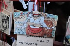 Anime Ema Ema: wooden tablet