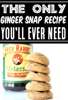 Soft Molasses Cookie Recipe Ginger Snaps! Easy cookies are the best kind, and this classic delivers pure nostalgic bliss with each bite! With the recipe coming straight from Grandma, you know it's going to be good! Go grab the recipe and give it a try this week!