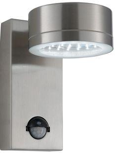 Modern Wall Lights | Modern LED Stainless Steel Outdoor PIR Wall Light: SL-9550SS
