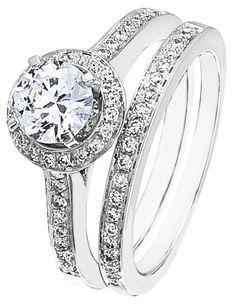 Diamond Wedding Ring Set, .40 Carat Diamonds on 14K White Gold