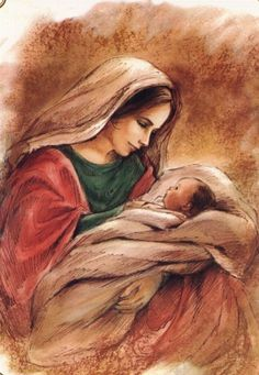 Blessed Mother Mary, Blessed Virgin Mary, Catholic Art, Religious Art, Religious Pictures, Mary And Jesus, Holy Mary, Madonna And Child, Baby Jesus