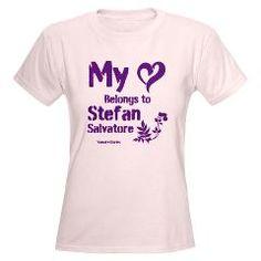 My Heart belongs to Stefan Women's Light T-Shirt> The Vampire Diaries: Team Stefan> The Couch Potato $20.39