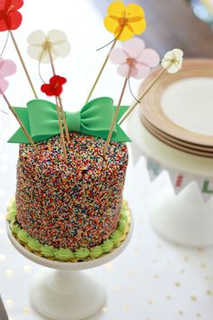 DIY party cake decoration ideas from Michaels Makers A Thoughtful Place