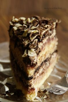 Zucchini cake with pine nuts - Clean Eating Snacks Polish Desserts, Polish Recipes, Sweet Recipes, Cake Recipes, Dessert Recipes, Polish Cake Recipe, Cherry Cookies, Walnut Cake, Different Cakes