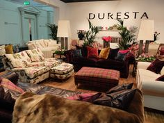 The vibrant Duresta stand in Milan