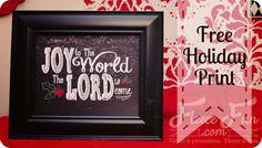 New Free Christmas Printable: Joy to the World ♥ Fleece Fun