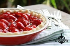 Fresh Strawberry Pie recipe from Southern Bite. Also included a diabetic version. www.southernbite.com
