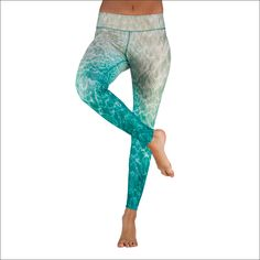 """The turquoise caribbean water plays with the fine sand at the beach. Fine Sand, Water Play, Body Shapes, Stretch Fabric, Yoga Pants, Leggings, Turquoise, Plays, Beach"