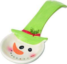Jolly Snowman Dolomite Spoon Rest