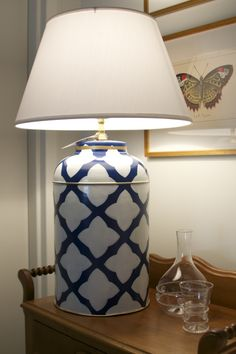 Dana Gibson's line of lamps are on display throughout the store.