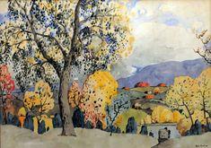 Grand arbre à l'automne (c. 1922-23) - Marc-Aurèle Fortin