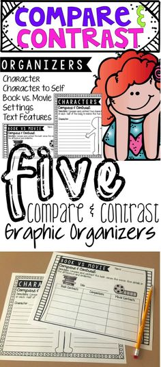 This set of compare and contrast graphic organizers promotes a higher level of thinking and is perfect for connecting two features within a text!
