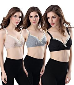 FW Womens Seamless Wireless Maternity Nursing Bra Breastfeeding Bra >>> You can find out more details at the link of the image. Maternity Sleepwear, Maternity Nursing, Pregnancy Outfits, Pregnancy Tips, Breastfeeding Bras, Women Lingerie, Image Link, Wire, Amazon