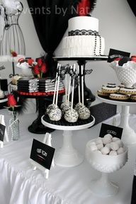 Glam Party in red, black and white #1920s #glamparty #wedding www.finditforweddings.com