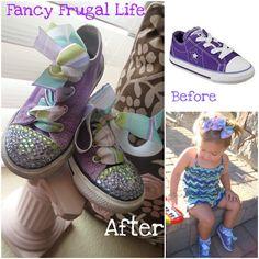 Fancy Frugal Life: DIY Crystal Embellished Converse