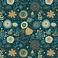 Patterns by Julia Grigorieva, via Behance