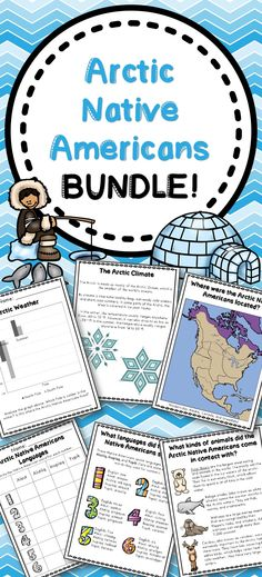 This bundle includes all you need for your Arctic Native Americans unit!! What's Included: Arctic Native Americans Informational Pages, Arctic Native Americans Activities, Arctic Native Americans I have! Who has? Game, Arctic Native Americans Matching Cards Arctic Native Americans Word Wall, Arctic Native Americans Writing Prompts