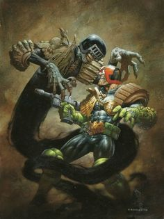 """Judge Dredd vs. Judge Death - Great story line. """"The crime is life....the punishment is death!!!"""""""
