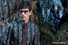 Sophisticated Men's Glasses - Gentlemen, leave the delicate, wire-framed glasses of seasons past behind you. Instead, choose these chunky, black men's eyeglass frames from Dolce &Gabbana. Equal parts sophisticated and hip, these aren't your father's glasses.