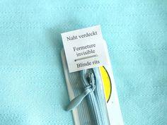 Nähanleitung: nahtfeine Reißverschlüsse einnähen