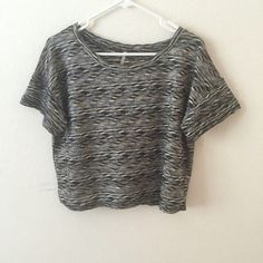 Free People cropped shirt Great condition, slightly cropped, will fit small-medium NO TRADES Free People Tops