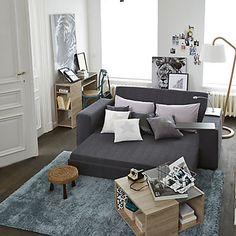 Stan meuble Console finition papier décor chêne brut et béton