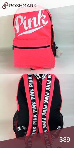 NWT VS Pink Campus Backpack Neon Pink Brand New Victoria Secret Neon  Pink Campus Backpack. PINK Victoria's Secret Bags Backpacks