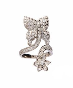 Another great find on #zulily! Cubic Zirconia & White Gold Butterfly Midi Pinky Ring #zulilyfinds