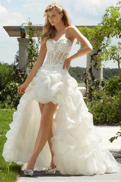 2013 Wedding Dresses Ball Gown Sweetheart Sweep/Brush Train Organza Ruffles Asymmetrical