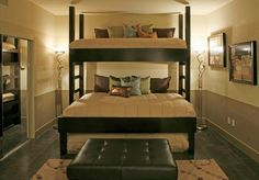 """Fantastic """"bunk bed ideas for small rooms"""" info is offered on our website. Read more and you wont be sorry you did. Bunk Beds Small Room, Modern Bunk Beds, Bunk Rooms, Bunk Beds With Stairs, Cool Bunk Beds, Twin Bunk Beds, Kids Bunk Beds, Small Rooms, Bunk Beds For Adults"""