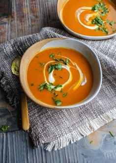 Spicy Sweet Potato Soup | The Mother Cooker