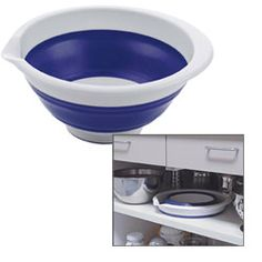 collapsible bowls - great for a boat to save space in the galley