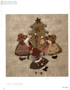 Sunbonnet Sue at Christmas time Quilt Block Patterns, Applique Patterns, Applique Quilts, Quilt Blocks, Sunbonnet Sue, Girls Quilts, Baby Quilts, Noel Christmas, Christmas Crafts