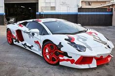 Chris Brown's Camouflage Lamborghini... Not my taste but interesting...