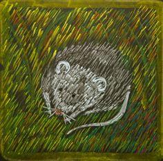 Waldorf ~ 4th grade ~ Human & Animal ~ Mouse ~ chalkboard drawing