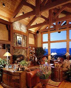 5 Amazing Log Home Decorating Ideas Mountain Dream Homes, Mountain House Plans, Mountain Cabins, Mountain Living, Mountain Man, Log Home Decorating, Lodge Style Decorating, Decorating Ideas, Decor Ideas