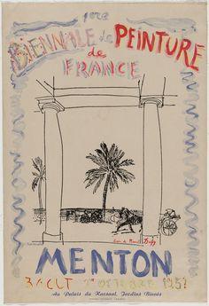 Raoul Dufy, C. Tereshkovitch. 1ere Biennale de Peinture de France, Menton, 1951. 1951