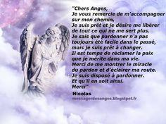 Prière aux Anges de la semaine