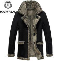 Spirio Men Single Breasted Outdoor Bomber Warm Linen Fleece Jacket Coat