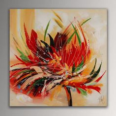 Abstract Painting Easy, Abstract Flower Art, Acrylic Painting Tutorials, Abstract Oil, Texture Painting, Stone Painting, Creative Art, Art Lessons, Canvas Wall Art