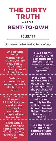 Set up a Rent to Own Contract House and Home Pinterest Rent